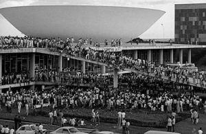 Manifestação das Diretas já, 1984.