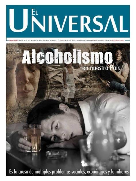 Capa de uma edição do jornal da Igreja Universal na Bolívia, prometendo cura para um grave problema social que aflige inúmeras famílias pobres, a dependência do álcool. A esquerda também tem muito a aprender, criticamente, com o trabalho de comunicação da Universal.